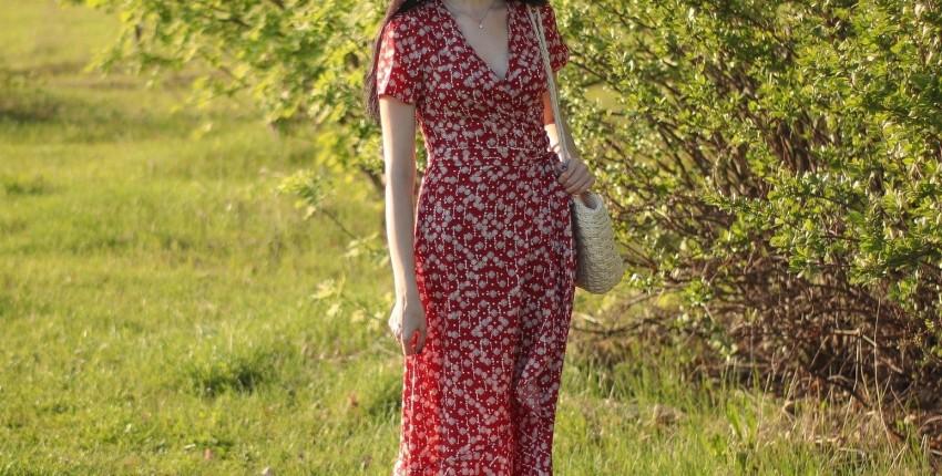 Летнее платье с запАхом