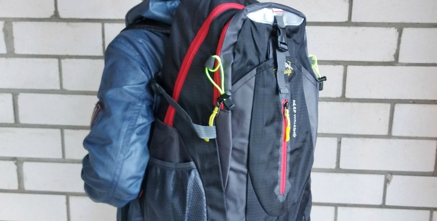Вместительный рюкзак для походов бренда HU_WAI_JIAN_FENG - отзыв покупателя