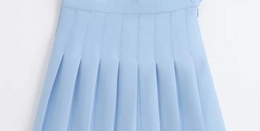 Юбка небесно-голубого цвета