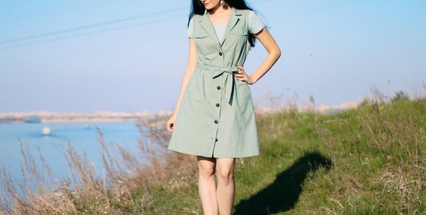 Платье в стиле сафари skitzyou - отзыв покупателя