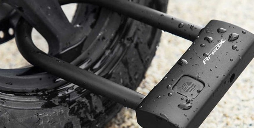 Велосипедный замок Xiaomi со сканером отпечатка пальца