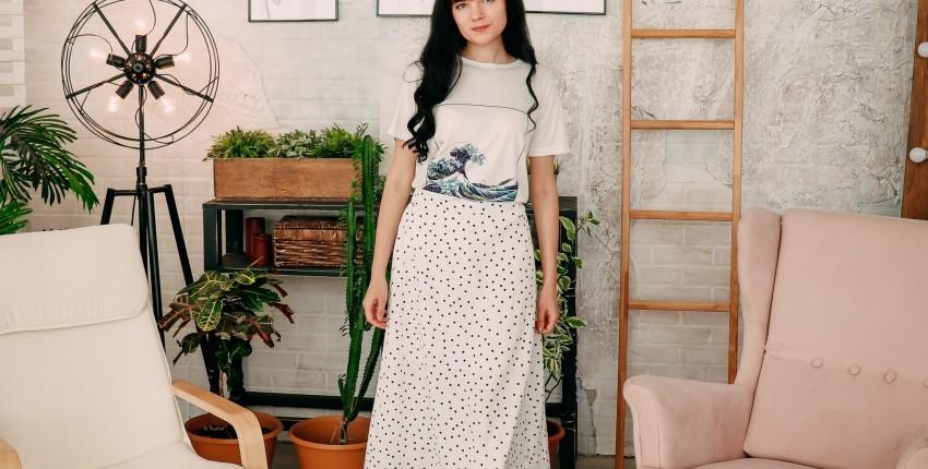 Классная юбка в горох Mooirue Apparel