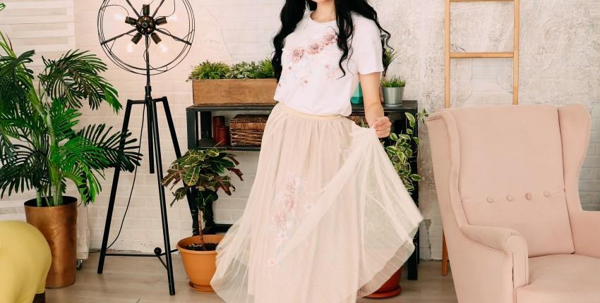 Летний комплект из юбки и футболки  ALPHALMODA - отзыв покупателя