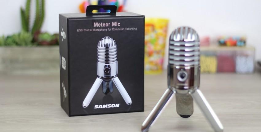МИКРОФОН SAMSON METEOR Конденсаторный микрофон небольшого размера, но очень хорошего качества.
