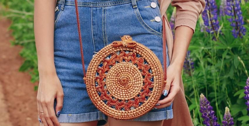 Круглая сумочка из ротанга AOILDLLI - отзыв покупателя