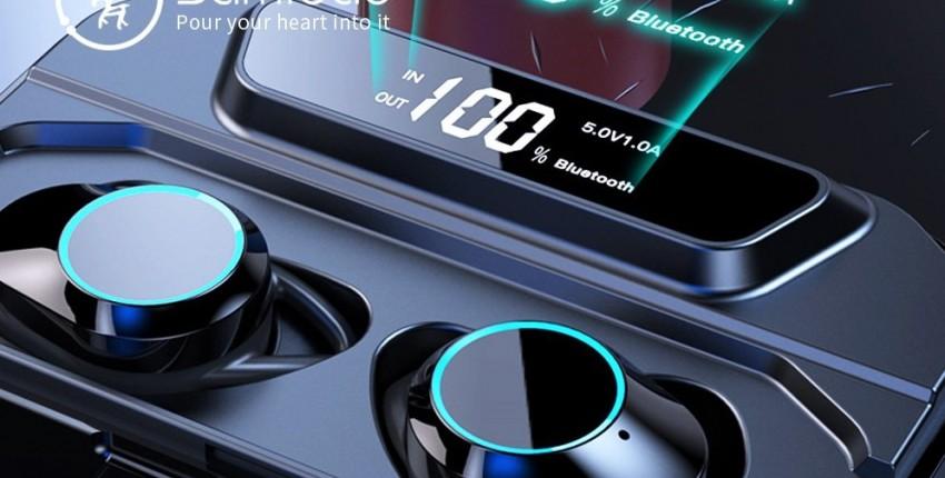 Samload Беспроводные наушники HIFI Звук Bluetooth 5,0 стерео наушники с 3000 mAh заряда
