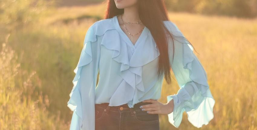 Блуза небесного цвета OOTN - отзыв покупателя