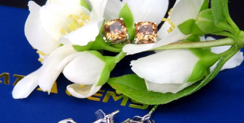 Нежнейшие серьги с драгоценным камнем - султанитом - отзыв покупателя