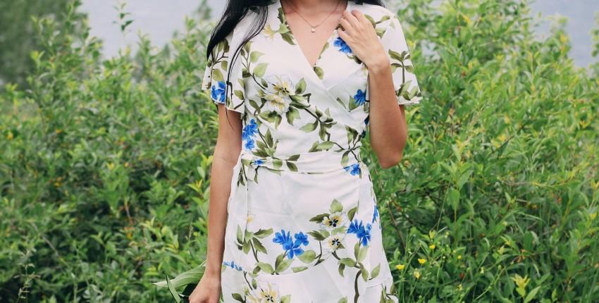 Милое платье с запАхом GOPLUS - отзыв покупателя