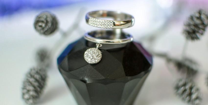 Интересное серебряное колечко