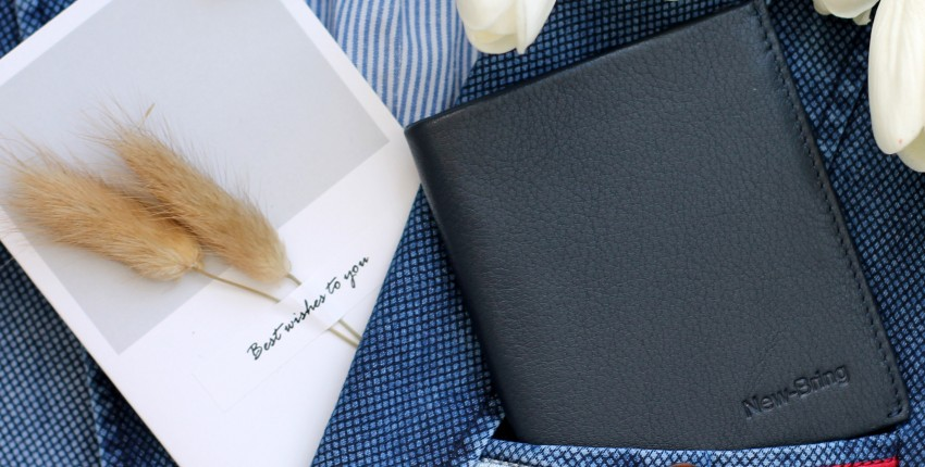 Мужской бумажник из натуральной кожи от NewBring