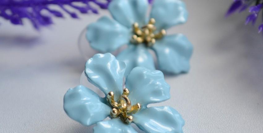 Серьги в форме цветка Etrendy official store - отзыв покупателя