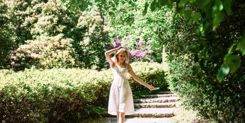 Летнее, лёгкое платье из хлопка от магазина MOXFCIZO