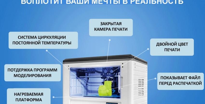 3D принтер Flashforge  для дома и бизнеса Wi-Fi и сенсорный экран - отзыв покупателя