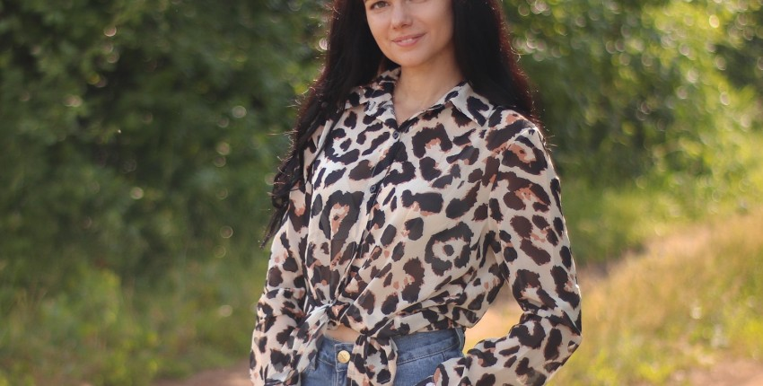 Рубашка с леопардовым принтом
