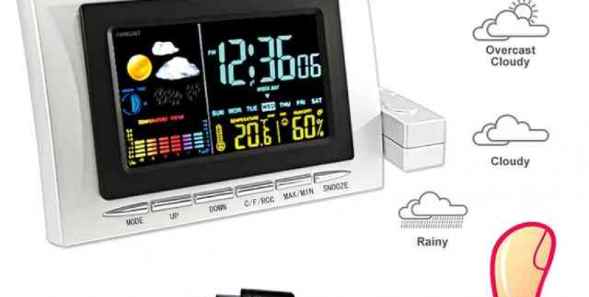 Домашняя метеостанция с барометром показатель температуры влажности