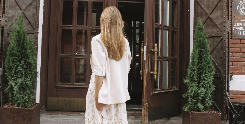Бежевый пиджак оверсайз с Алиэкспресс - отзыв покупателя