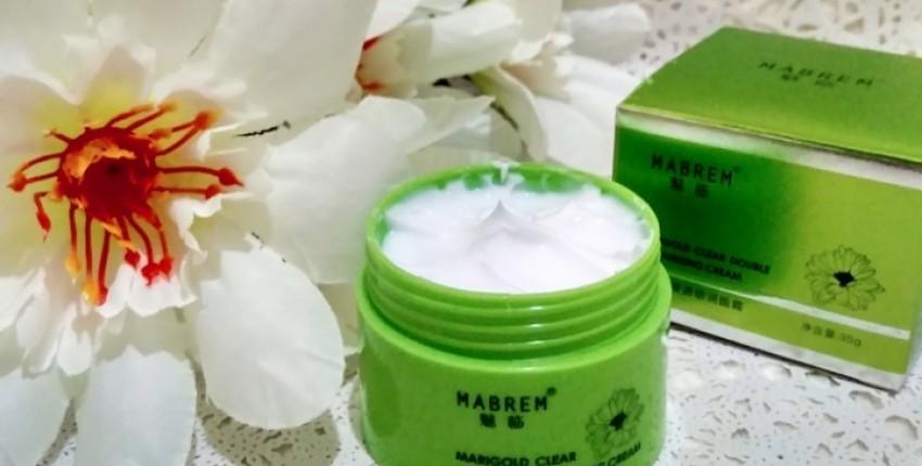 Увлажняющий крем для сухой кожи MABREM с экстрактом календулы, ромашки и центеллы.