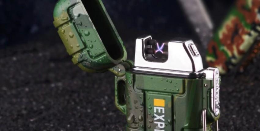 Зажигалка-разжигалка EXPLORER плазменная USB с двойной дугой камуфлированная. Не нужен газ и бензин - отзыв покупателя
