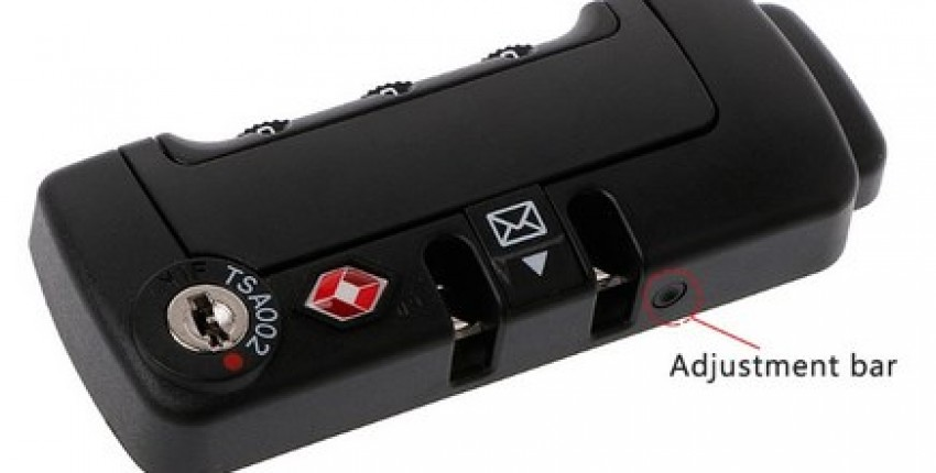 3 Digits Code Combination Padlock Luggage TSA Secure Lock.