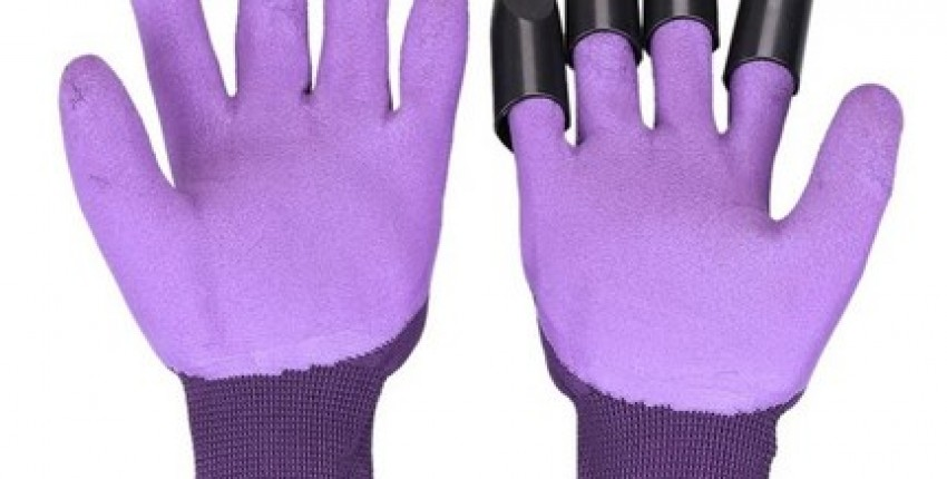 Pair of Garden Gloves with Claws Quick Easy to Dig and Plant.