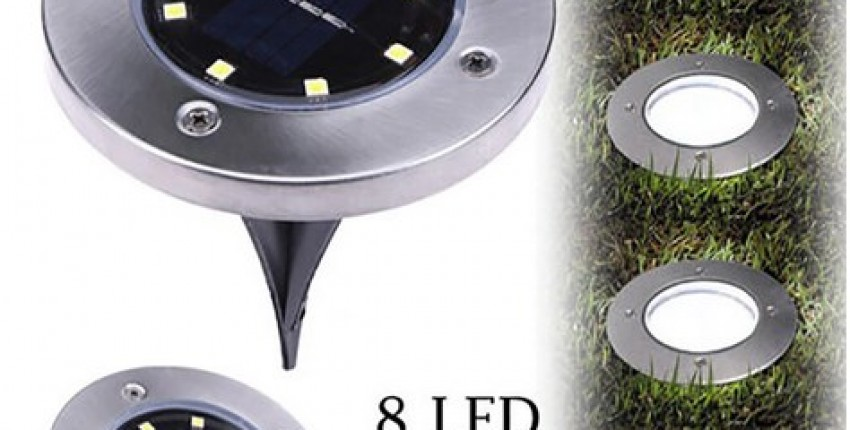 8 LED Solar Power Light Under Ground Lamp Outdoor Path Way Garden Decking - User's review