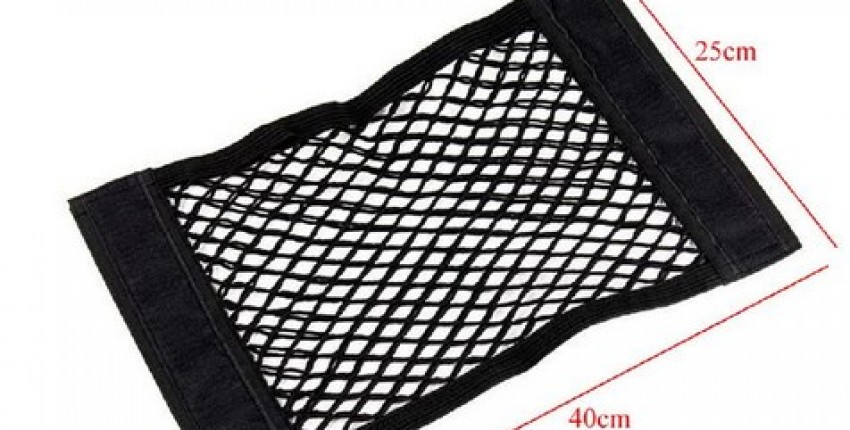 Car Rear Trunk Back Seat Elastic String Net Mesh Storage Bag Pocket Cage 4025cm