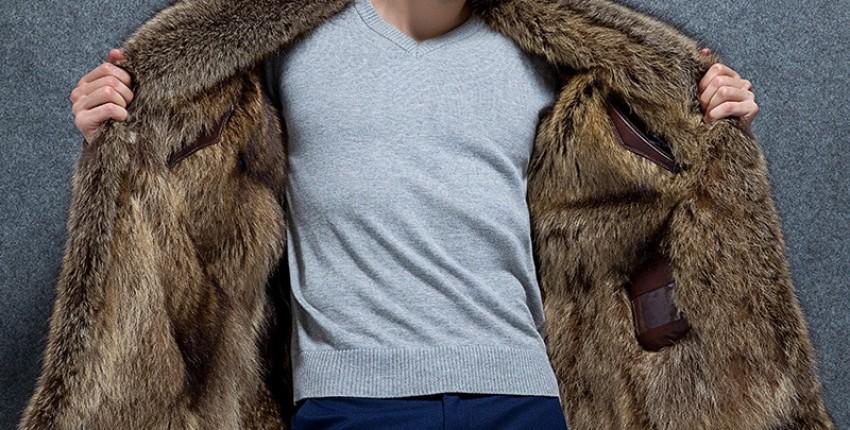Зимняя мужская куртка высокого качества теплый норковый мех