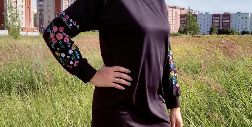 Платье свободного кроя на прохладные деньки от Simplee - отзыв покупателя