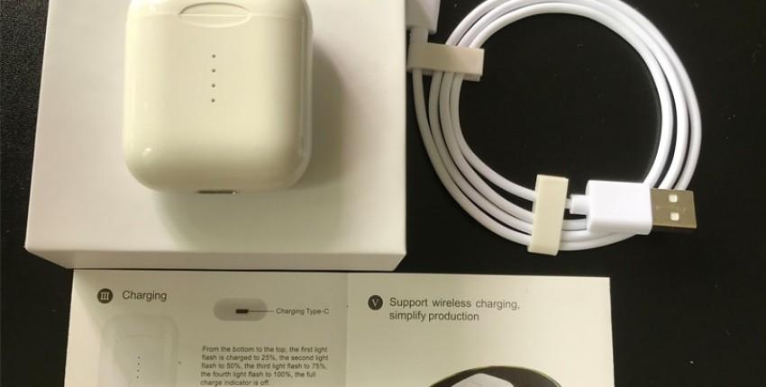 i10 TWS Оригинал Bluetooth5,0 наушники с сенсорным управлением Поддержка беспроводной зарядки