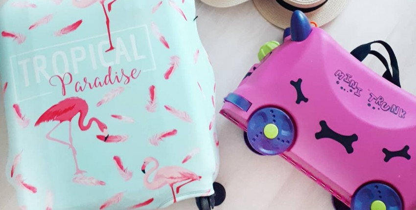 Детский чемодан и чехол для взрослого чемодана с Алиэкспресс - отзыв покупателя