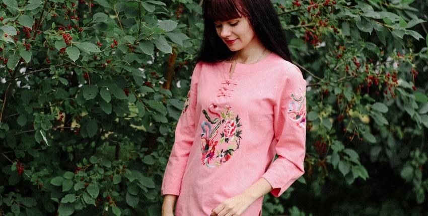 Блуза в китайском стиле F JE - отзыв покупателя