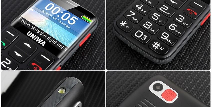 Телефон для пожилых людей БАБУШКОФОН UNIWA V808G