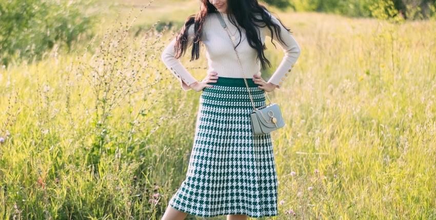 Крутая плиссированная юбка на осень SMTHMA - отзыв покупателя