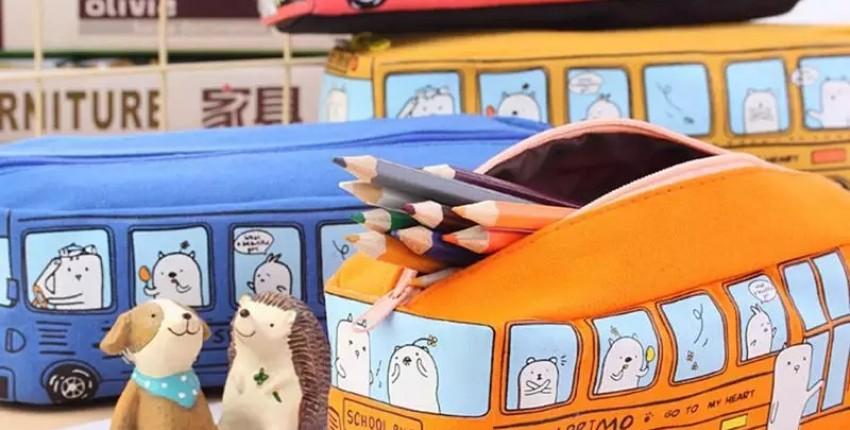 Детский пенал в виде автобуса - отзыв покупателя