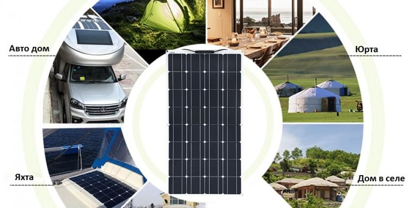 Солнечная панель 100 Вт монокристаллическая