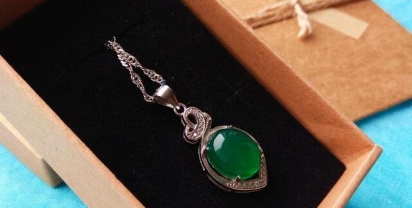 Серебрянный кулон с нефритом - отзыв покупателя