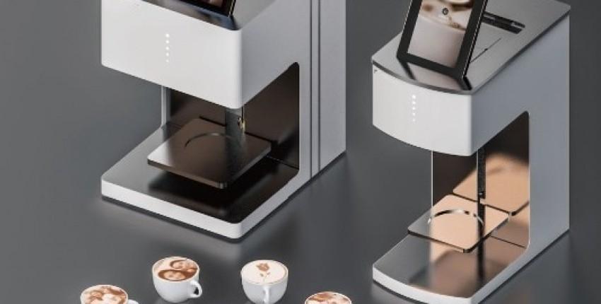 3D-принтер для печати на кофейной пенке, пивной пене, коктейлях, десертах и печенье.