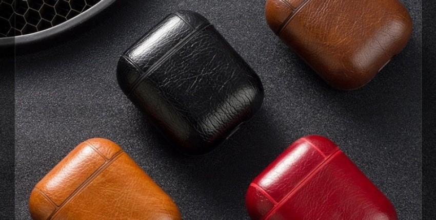 Чехол для наушников Apple Airpods из натуральной кожи Сексуальная сумка из змеиной кожи