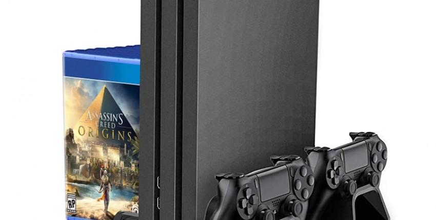 SONY Playstation 4 PRO вертикальная подставка с охлаждающим вентилятором  зарядная станция - отзыв покупателя