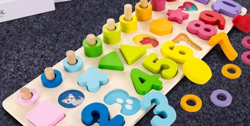 Развивающая игрушка Монтессори - цифры, формы, цвета, счёт. АлиЭкспресс. - отзыв покупателя