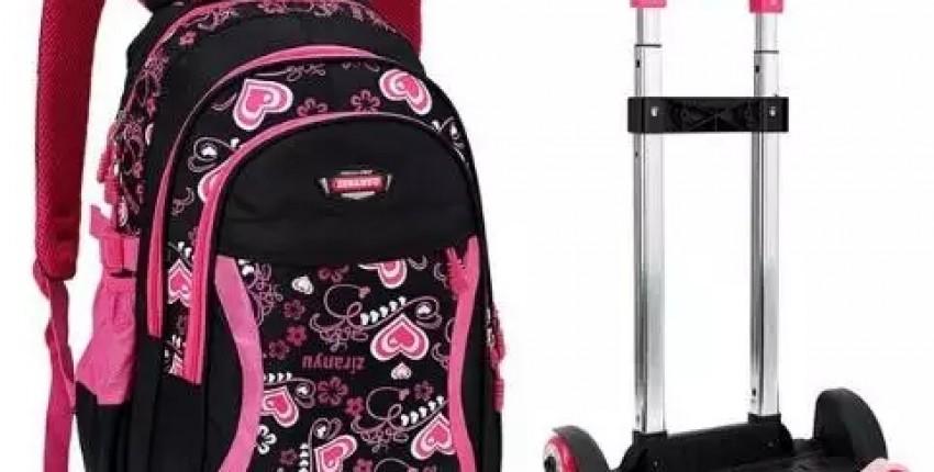 Школьный рюкзак на колесах с Алиэкспресс - отзыв покупателя