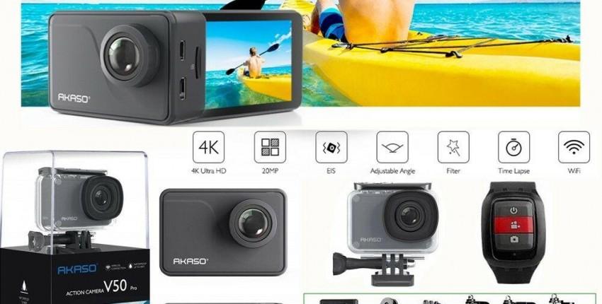 Экшн-камера с сенсорным экраном AKASO V50 PRO 4K Экстремальная Спортивная угол обзора 30 м - отзыв покупателя