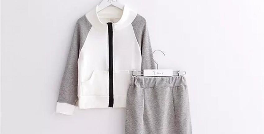 Классный спортивный костюм с юбочкой на осень для девочек 3-6 лет с Алиэкспресс - отзыв покупателя