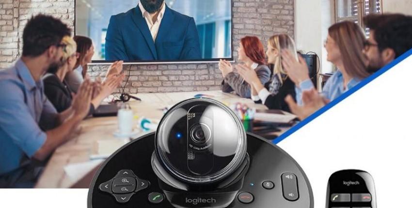 Веб-камера logitech BCC950 для деловых конференций, видео чатов FHD 1080P с громкой связью USB/пульт