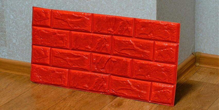 Объёмные, самоклеющиеся 3D обои с тиснением под кирпич