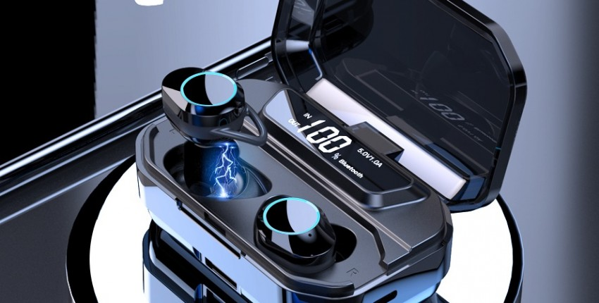 G02 TWS 5,0 Bluetooth 9D стерео наушники беспроводные  IPX7 водонепроницаемые