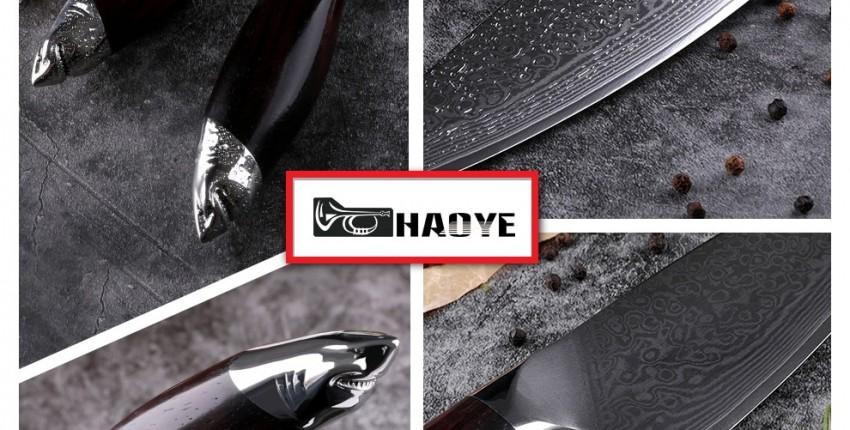 Дамасская сталь Кухонный нож  рукоятка из сандалового дерева - отзыв покупателя