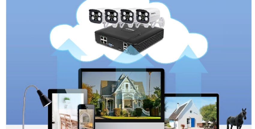 Система видеонаблюдения для дома или дачи.