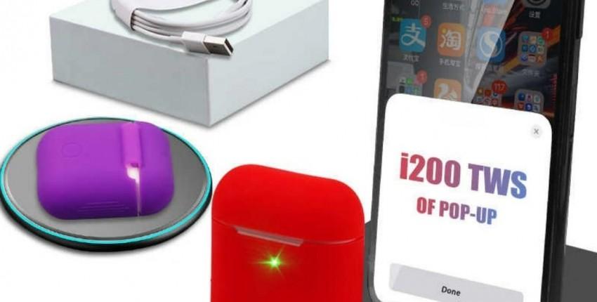 I200 TWS оригинальные наушники A2 Smart Senor 1:1 Размер  5,0 Bluetooth - отзыв покупателя
